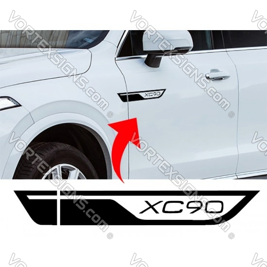Volvo Xc90 Xc60 Door molding exterior accessory Wings decal