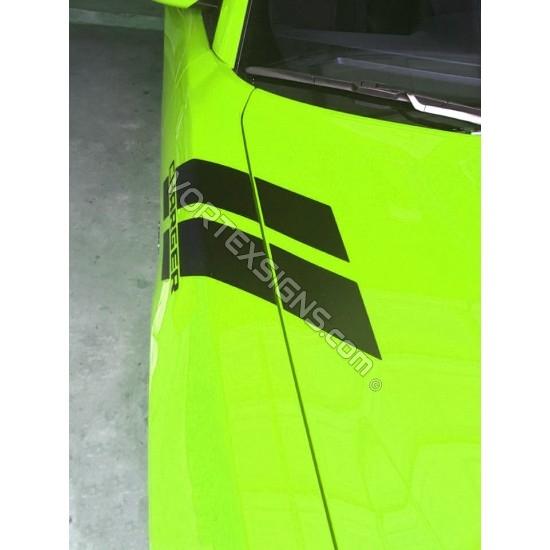 Custom Text Fender Stripes sticker