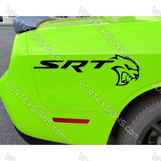 2pcs Challenger SRT Hellcat Quarter panel Decal sticker
