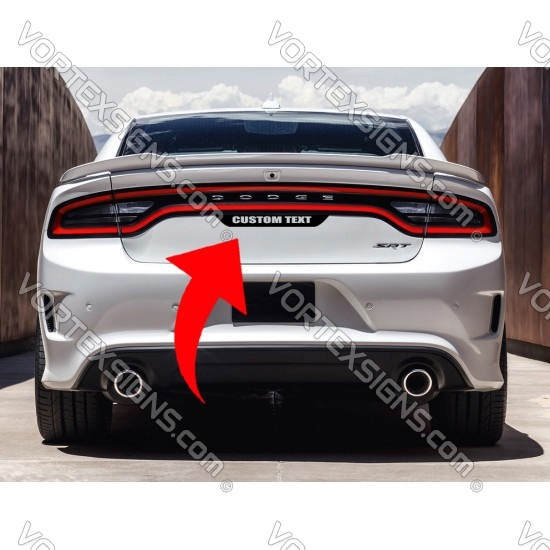 Custom Text Tail light lamp Accent Decal sticker