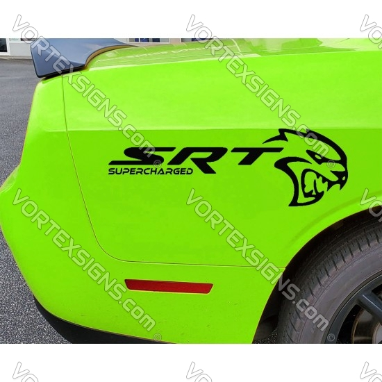 Hellcat SRT Supercharged decal sticker
