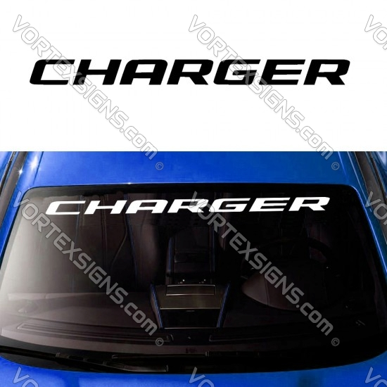 Dodge Charger Windshield sign sticker