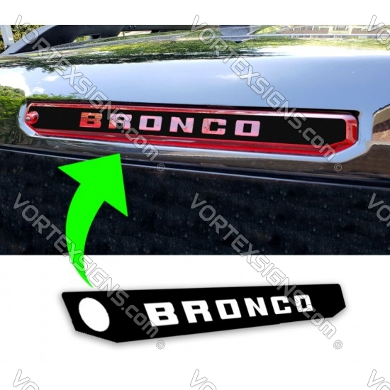 3rd Brake Light Cover with CUSTOM text Cutout (Ford Bronco Sport) sticker