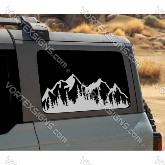 3rd Window Trees and Forest  for Ford Bronco 6G - V5 sticker