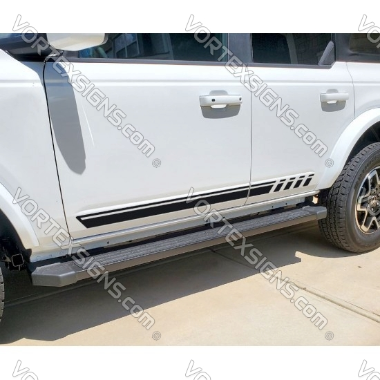 2021 bronco full size Body door stripes decals graphics for 6G Ford Bronco - v1 sticker