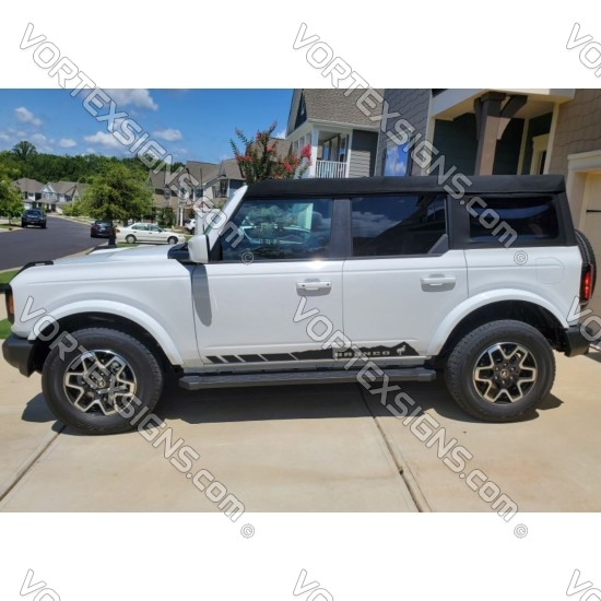 Body door stripes decals graphics for 6G Ford Bronco - v1 sticker