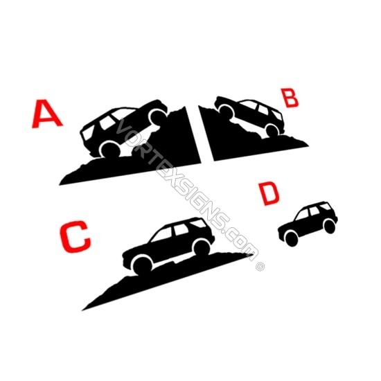 Small Bronco Sport Silhouette for window corners  - V2 sticker