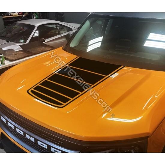 Vinyl Hood Flag Overlay graphics for Ford Bronco Sport sticker
