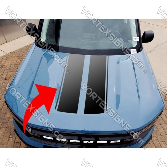 Vinyl Hood Accents stripe graphics for Ford Bronco Sport - V3 sticker