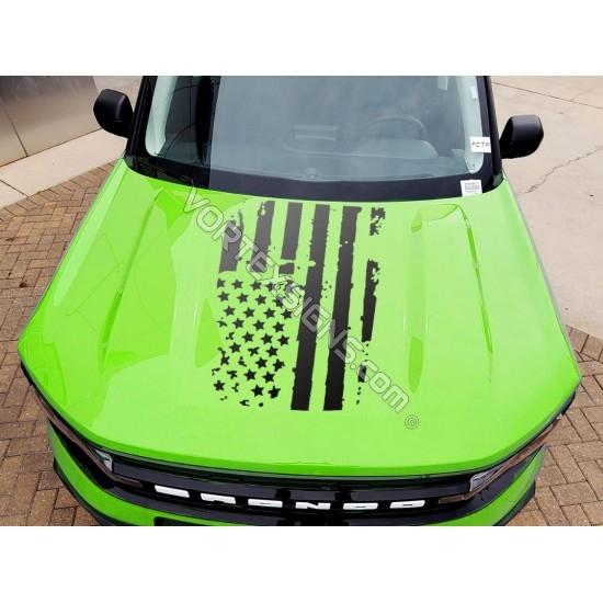 Vinyl Hood Flag Overlay graphics for Ford Bronco Sport - V1 sticker