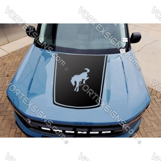 Vinyl Hood Flag Overlay graphics for Ford Bronco Sport - V1 sticker