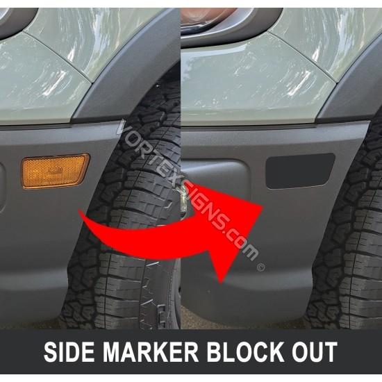 Front marker light black out vinyl decal for Bronco Sport sticker