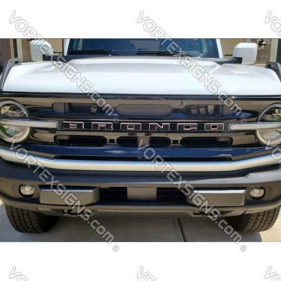 Vinyl Letters Overlay decal for Ford Bronco grille 6G 6 generation sticker