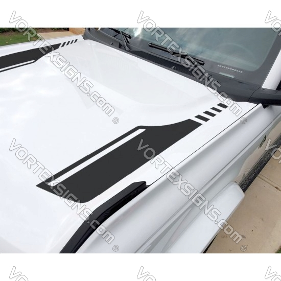 2021 bronco full size Hood accent stripes decal sticker for 6G Ford Bronco - v1 sticker