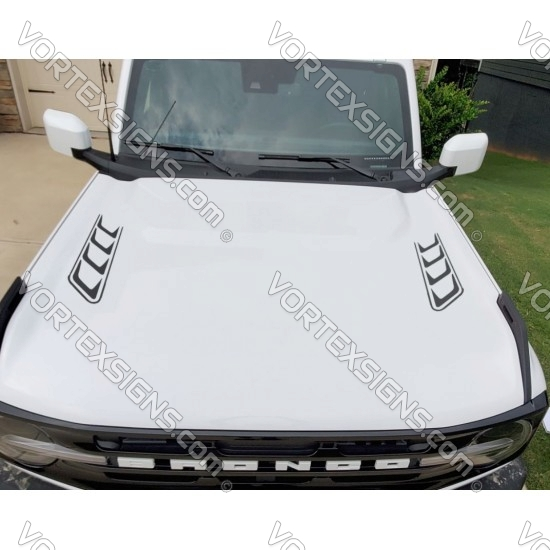 Hood accent stripes decal sticker for 6G Ford Bronco - v1 sticker