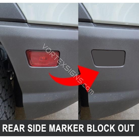 Rear side marker light black out vinyl decal for Bronco Sport sticker