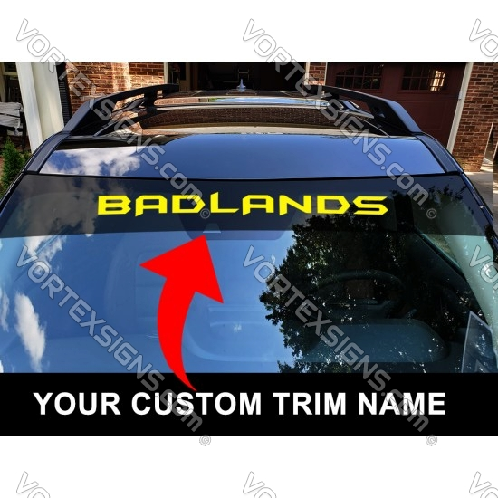 Trim name Windshield sign decal for Ford Bronco sticker