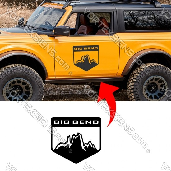BIGBEND logo Door decals  (Ford Bronco) sticker