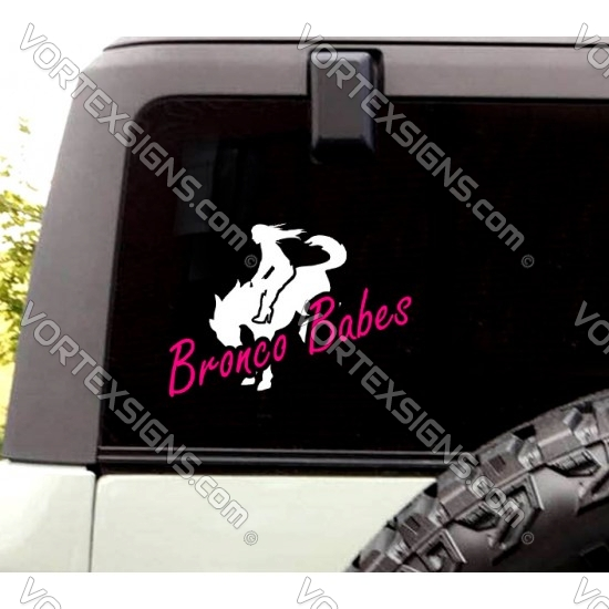 Ford Bronco Babes sticker for rear window