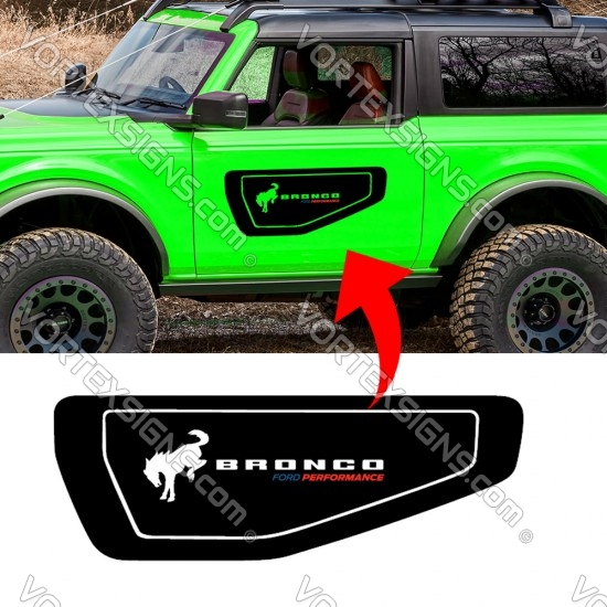 Ford Bronco Door insert Graphic Ford Performance sticker