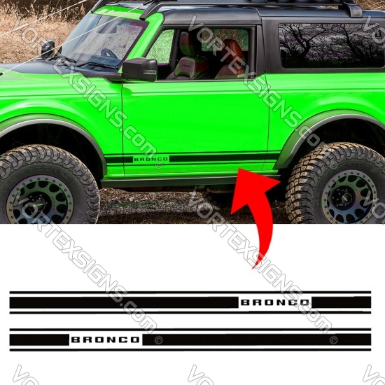 Ford Bronco Door body stripe Graphic Ford Performance sticker