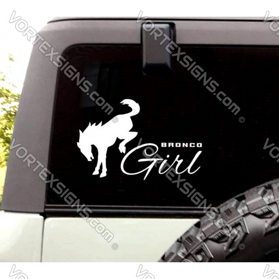 Ford Bronco Girl sticker exterior girl accessory