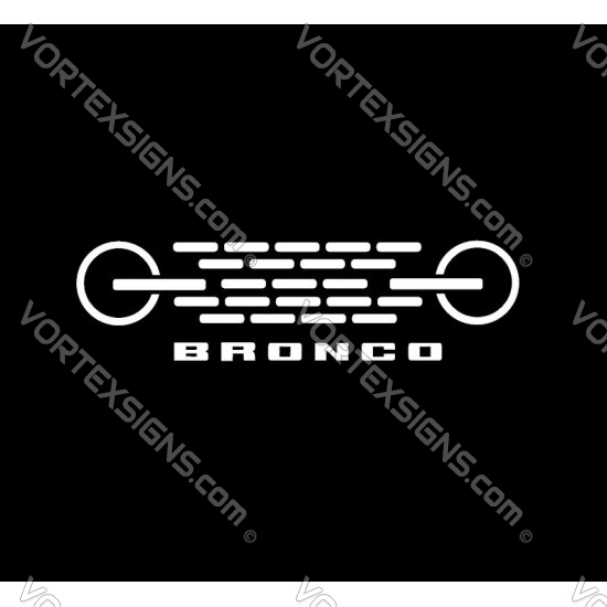 Ford Bronco Front Grille Logo sticker decal