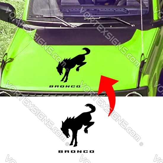 Ford Bronco Logo hood  Graphics sticker with horse