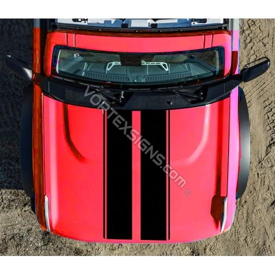 Ford Bronco hood stripes sticker