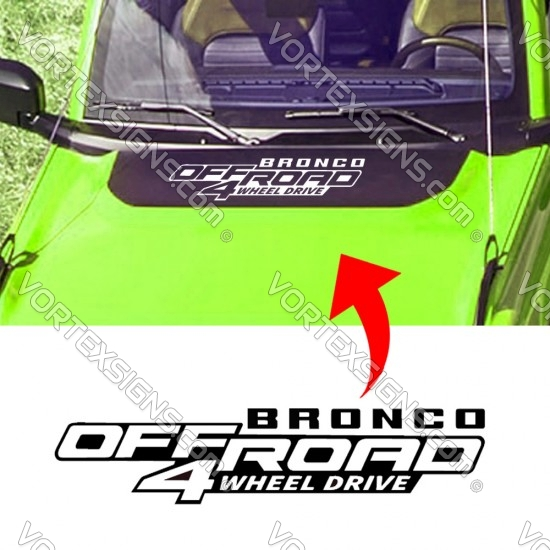 Ford Bronco Offroad 4 wheel drive Hood Graphics sticker