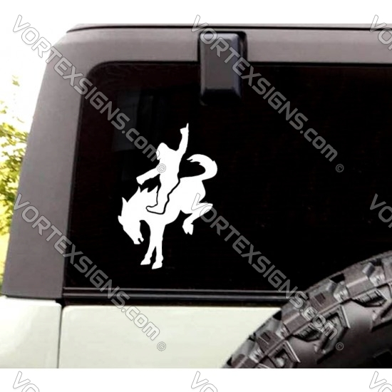 Ford Bronco Big Foot riding Horse sticker