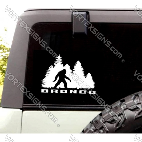 Ford Bronco Big Foot Sasquatch Decal rear window sticker