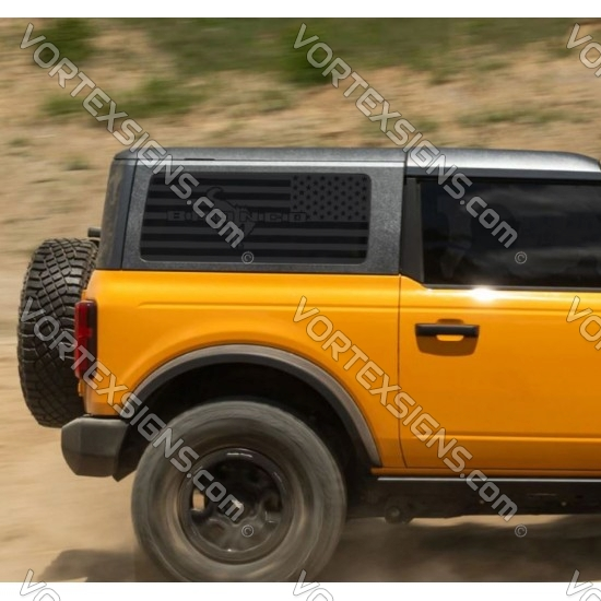 matte Side Window USA Flag decal graphics sticker for ford bronco