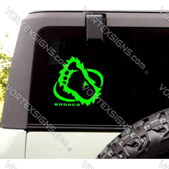 Ford Bronco Sasquatch foot print sticker