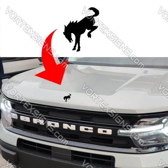 Center Hood logo(Ford Bronco) sticker