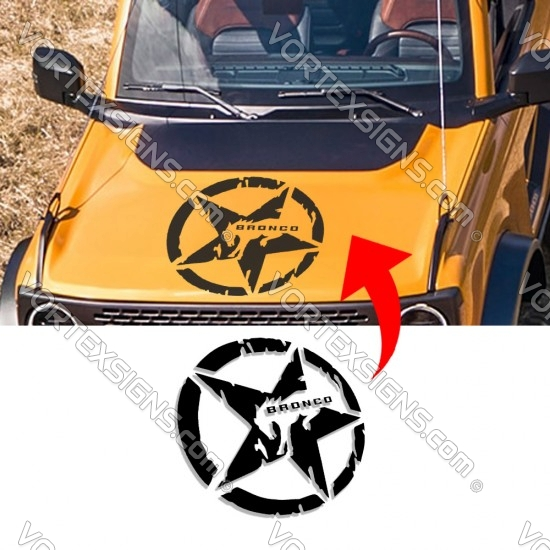 Ford Bronco horse Star logo Hood Body decal sticker