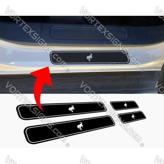 Door sill decal accessory for Ford Bronco 6G sticker