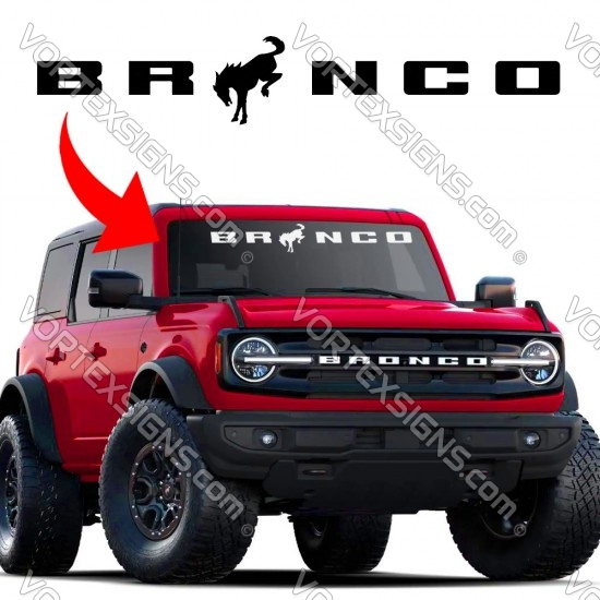 2021 Bronco Windshield sign letters logo sticker