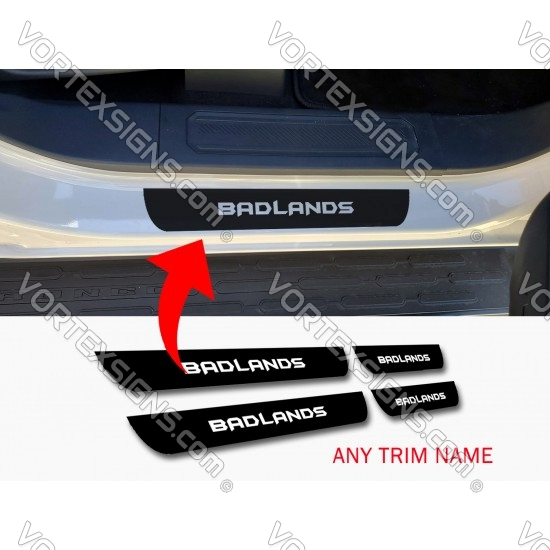 Door sill decal with trim name cut out for Ford Bronco 6G sticker