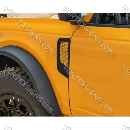 2021 Ford Bronco fender accent sticker with mesh inside