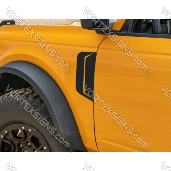 2021 Ford Bronco fender accent sticker with vent hole