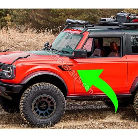 2021 Ford Bronco fender accent sticker