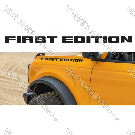 FIRST EDITION fender letters logo (Ford Bronco) sticker