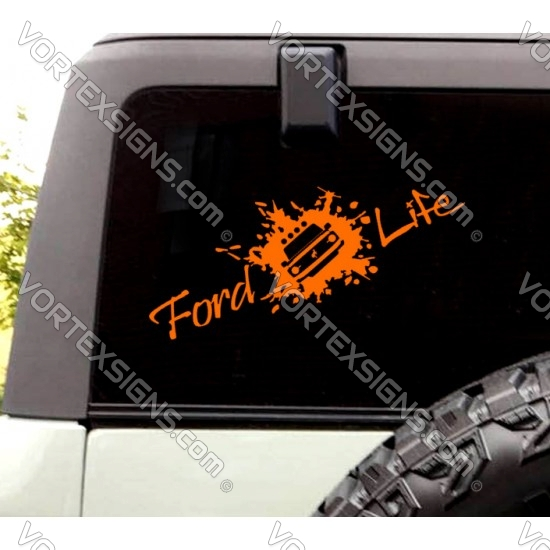 Ford Life decal (Ford Bronco) sticker rear window