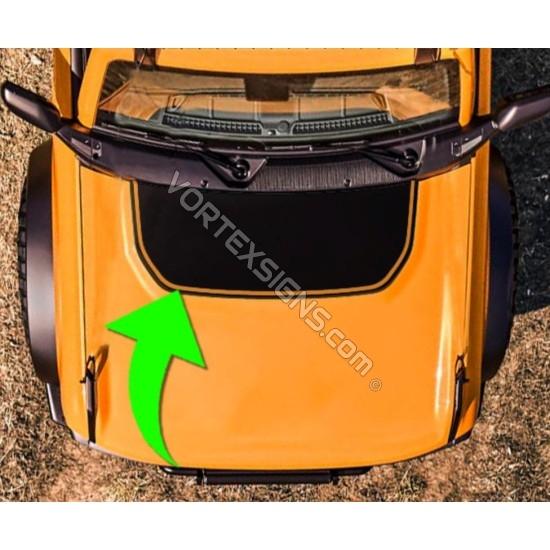 matte black Hood bump outline decal sticker for 6G Ford Bronco sticker