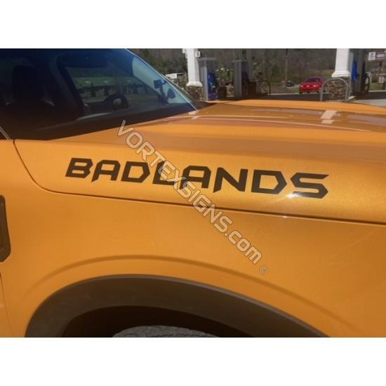 Custom Text fender hood letters for Ford Bronco sticker