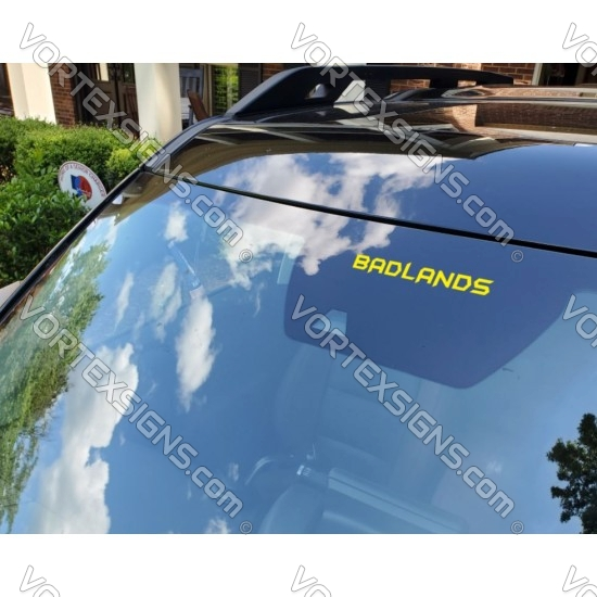 Model Decal sticker for top of Windshield decals - Ford Bronco Sport - V1 sticker