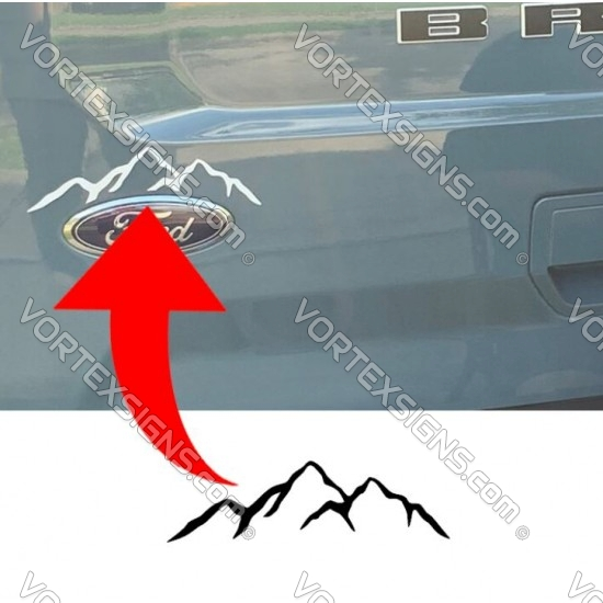 Mountains Hatch Accent vinyl decal for Ford Bronco Sport sticker