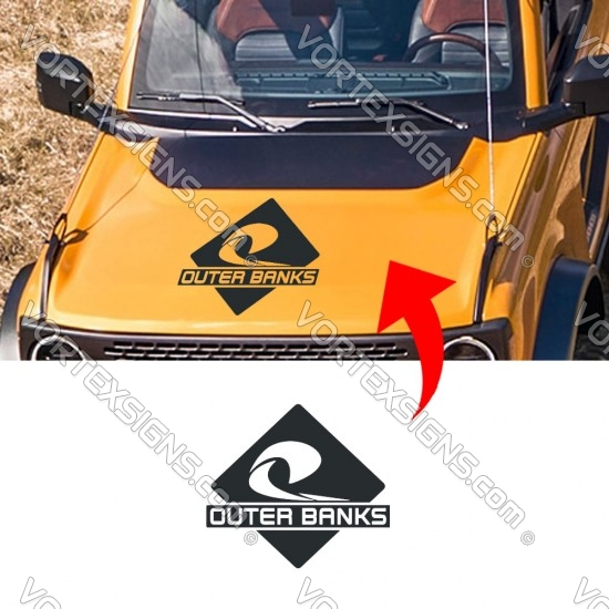 ford Bronco OUTER BANKS logo Hood decal sticker