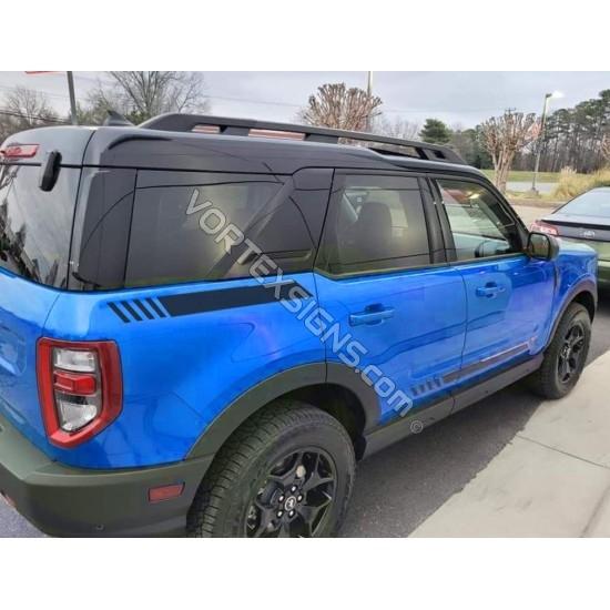 Vinyl Quarter panel Accents stripes graphics for Ford Bronco Sport - V1 sticker